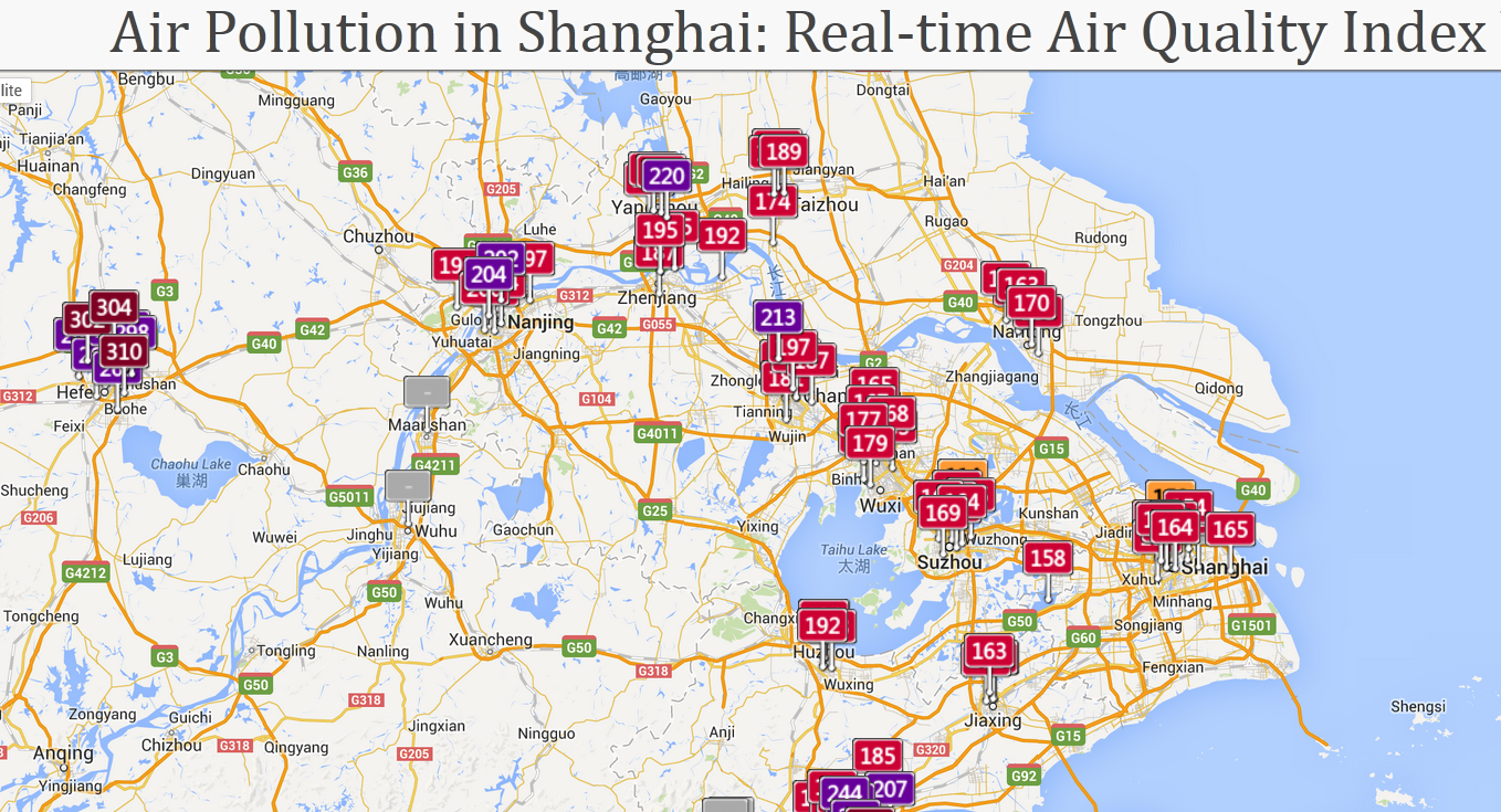 Air Pollution In Shanghai Real Time Air Quality Index Visual Map Mozilla Fire 2013