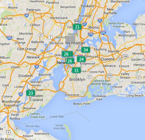 New York Air Quality 8 Nov 2013.